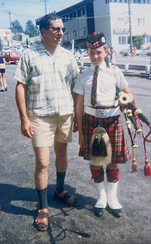 Dad and me at the Sea Fair Parade - 1968