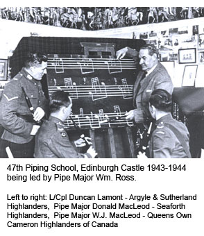 47th Piping School at Edinburgh Castle 1943-1944