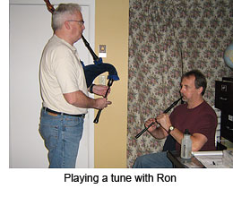 Playing a tune with Ron